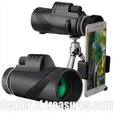Waterproof <b>40x60</b> Hd <b>Monocular</b> Phone Attachment Telescope ...
