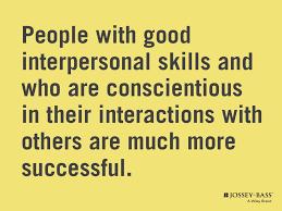 people good interpersonal skills