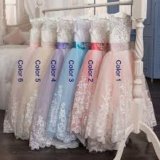 <b>Romantic</b> Champagne <b>Puffy Lace</b> Flower Girl Dress for Weddings ...