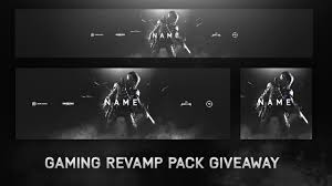 free call of duty youtube banner template + rebrand pack