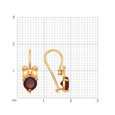 <b>Серьги</b> «<b>Бабочки</b>» из золота с гранатами <b>SOKOLOV</b> – купить в ...