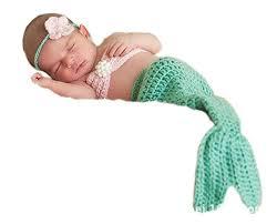 Pinbo <b>Newborn Baby</b> Photography Prop <b>Crochet Mermaid</b>...