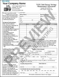 maintenance service contract template printable documents hv 1032 hvac service