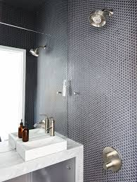 dwell bathroom ideas the wet bathroom clad in savoy penny tile by ann sacks helped optimize the