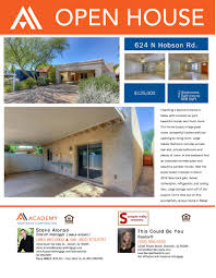 co branded property flyer open house just listed just open house no rate table sample