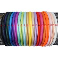 10mm <b>Solid</b> Color <b>Satin Covered</b> Resin Hairbands,Ribbon <b>Covered</b> ...