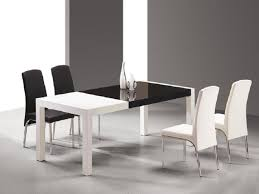 black and white dining table set: superior white modern dining set  black and white dining table