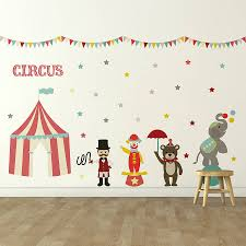 Small Picture childrens circus wall sticker set by oakdene designs