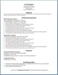 resume examples  online resume examples resume templates  resume    online resume examples for objective   professional experience and education