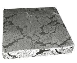 mq06t Silver Black Ash Grey Rose Shimmer Velvet 3D Box Sofa ...