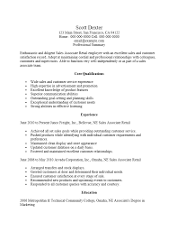 sample resume retail sales associate a clothing store duties of a retail sales example resume for retail