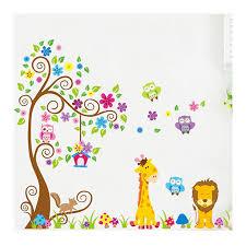 Kindergarten child room decorates a wall <b>cute owl</b> flower wall ...