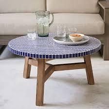 <b>Mosaic</b> Tiled <b>Coffee Table</b> - <b>Blue</b> Penny