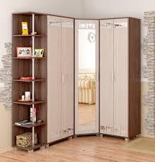 appealing wooden corner wardrobe mirror the middle plus furniture shelves beside as well art beige painting bedroom furniture corner units