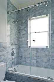 blue bathroom tile ideas: shower door ideas bathroom contemporary with blue bathroom blue