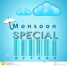 monsoon special offer and banner flyer or poster rain monsoon special offer and banner flyer or poster rain and open umbrella concept
