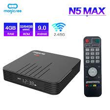 Magicsee N5 Max Amlogic S905X3 <b>Android 9.0 TV BOX</b> 4G 32G ...