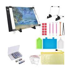 PETF 30PCS <b>Diamond Painting A4 LED</b> Light Pad Kit,DIY ...