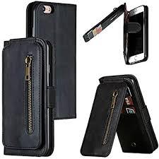 Amazon.co.jp: Premium Zippered Pocket, <b>PU Leather Wallet Case</b> ...