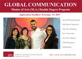 global communication m a double degree program school of it will be the first fully integrated cohort program in global communication though which students of all nationalities will study side by side in both