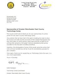 thank you letter to sponsors info printerbase sponsors the scouts printerbase