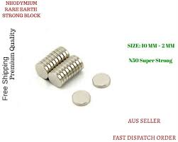 Rare Earth Strong Magnet Disc Round Cylinder Neodymium <b>N 50</b> ...