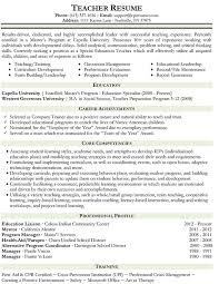 teacher resume   free sample resumesfree sample resumes