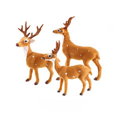 HOT <b>1pcs 25cm Christmas</b> Elk Plush Simulation Deer New Year ...