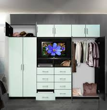 Aventa <b>TV Wall Unit</b> X-Tall - 10 Door Wardrobe Wall Unit for ...