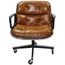 vintage mid century modern charles pollack leather executive armchair for knoll antique leather office chair