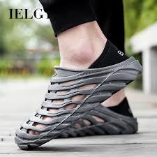 IELGY Summer beach <b>shoes men's lightweight soft</b> sandals ...