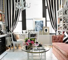 black and white striped vertical curtains chic living room curtain