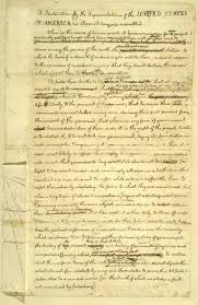 declare the causes  the declaration of independence   edsitementactivity   eighty six it  changes to jefferson    s draft