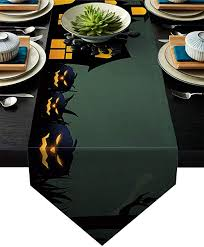 Libaoge Coffee Table Runner Mysterious Haunted House and ...