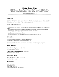 good example resume template for cna   essay and resume    cover letters  resume template for cna objective resume sample certified nursing cna resume entry