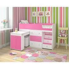 <b>Кровать</b>-<b>чердак Ярофф Малыш</b> 700x1600 Белое дерево розовый