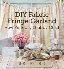 Easy <b>DIY Fabric Fringe</b> Garland - How Perfectly Shabby Chic! -Beau ...