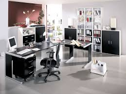 gallery of awesome modern home office design ideas with rectangle black painted computer desk combine round black swivel chair also rectangle white wood awesome black painted