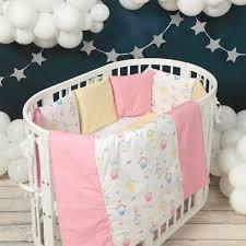 <b>Комплект</b> в кроватку <b>Happy Family Studio</b> Домики (7 предметов ...