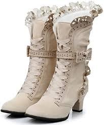 <b>Lorie</b> & Knight Women's Faux Suede <b>Lace</b> Up <b>Wedding</b> Victorian ...