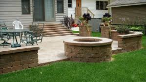 outdoor fireplace paver patio: backyard fire pit patio design home design ideas fire pit for patio
