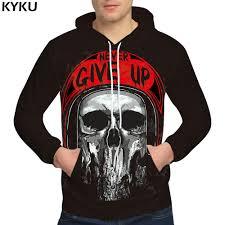 <b>KYKU Brand</b> Skull Hoodies Punk 3d hoodies Hip Hop Sweatshirt ...