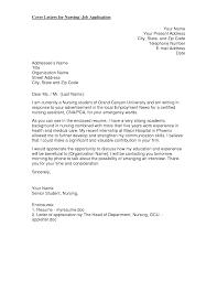 Sample Cover Letter Nursing