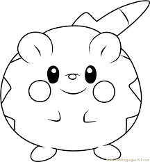 Small Picture Togedemaru Pokemon Sun and Moon Coloring Page Free Pokmon Sun