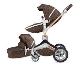 3 in 1 Leather Hot Mom Stroller <b>High Landscape</b> Folding Chair 360 ...