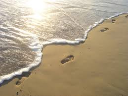 Image result for footprints in the sands of time
