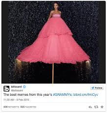 The Best Memes Of Rihanna's Grammys Dress - Afrossip via Relatably.com