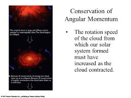 chapter  formation of planetary systems our solar system and  conservation of angular momentum the rotation speed of the cloud from which our solar system formed