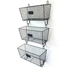 3 X Home <b>Iron Wall Hanging</b> Basket Shelf Holder <b>Storage Rack</b> ...