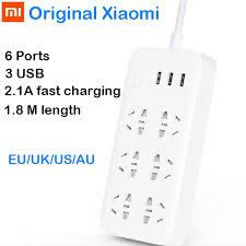 <b>Original XiaoMi Mi</b> Smart <b>Power</b> Strip 6 Ports with 3 USB Fast ...